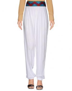 Повседневные брюки SAHA. Цвет: белый
