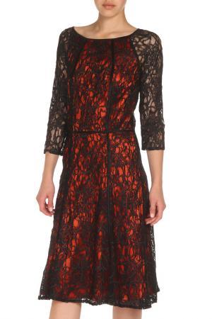 Платье из гипюра с рукавами 3/4 Apanage. Цвет: черный