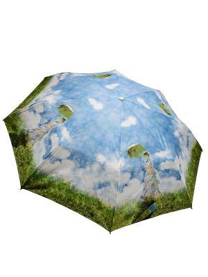 Зонт Edmins. Цвет: лазурный, белый, светло-зеленый
