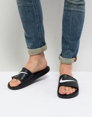 Nike Черные шлепанцы Kawa 832528-001. Цвет: черный