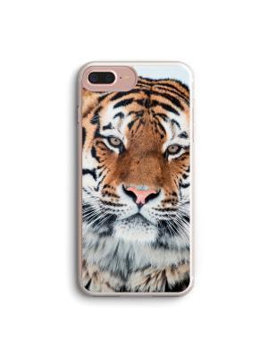 Чехол для iPhone 7 Plus/8 Plus Тигр Boom Case. Цвет: черный, белый, персиковый