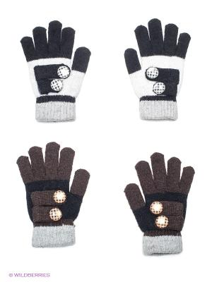 Перчатки, 2 пары FOMAS. Цвет: черный, темно-коричневый, молочный