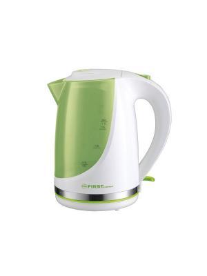 Чайник FIRST. Цвет: светло-зеленый, белый