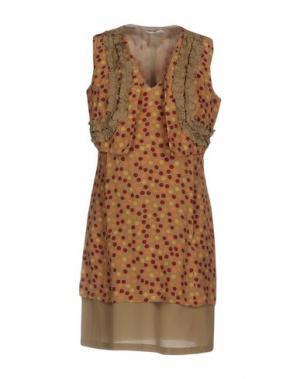 Короткое платье BARBA Napoli. Цвет: хаки
