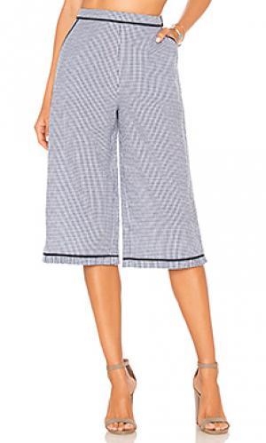 Клетчатые брюки vivanna ale by alessandra. Цвет: синий