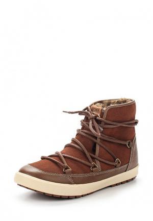 Ботинки Roxy. Цвет: коричневый