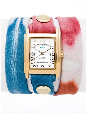 Часы La Mer Collections. Цвет: бледно-розовый, голубой, белый, золотистый