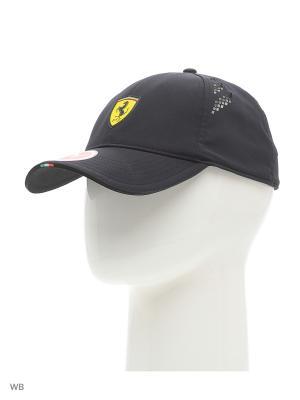 Бейсболка Ferrari Fanwear force SF cap Puma. Цвет: черный