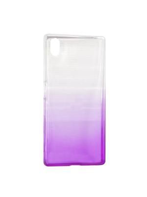Крышка задняя для Sony Xperia Z5 Силикон IQ Format. Цвет: фиолетовый