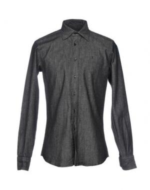 Джинсовая рубашка TRUSSARDI JEANS. Цвет: черный