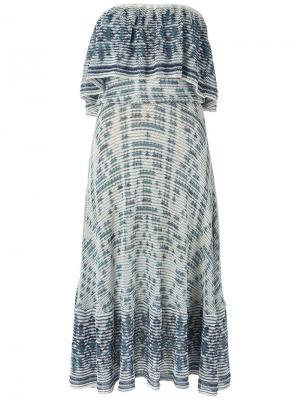 Knit midi dress Cecilia Prado. Цвет: синий