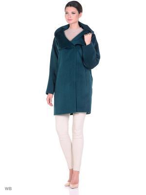 Пальто SHARTREZ. Цвет: темно-зеленый