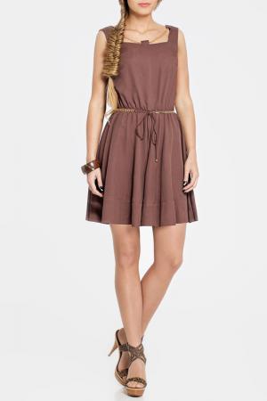 Платье PANDA. Цвет: коричневый