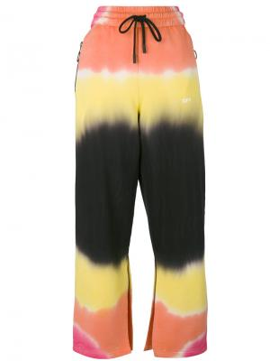 Брюки с полосатым рисунком Off-White. Цвет: жёлтый и оранжевый