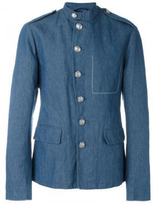 Полотняная куртка в стиле милитари 3.1 Phillip Lim. Цвет: синий