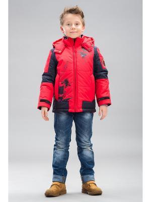Куртка Steen Age. Цвет: красный