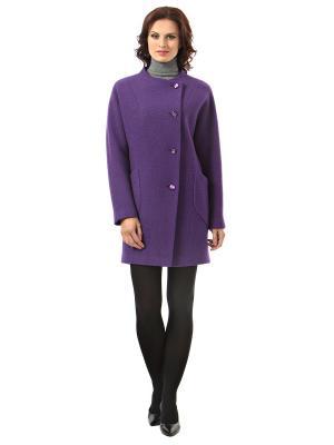 Пальто шерстяное AVALON. Цвет: фиолетовый