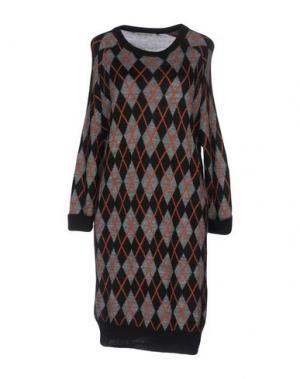 Короткое платье PAOLO CASALINI. Цвет: серый