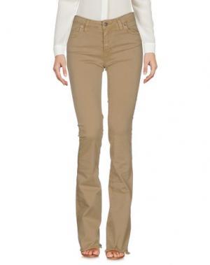Повседневные брюки KONTATTO. Цвет: бежевый