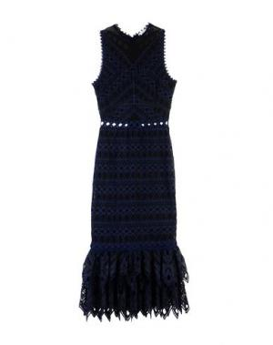 Длинное платье JONATHAN SIMKHAI. Цвет: темно-синий
