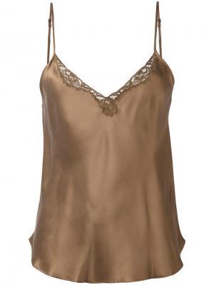 Блузка Sven Mes Demoiselles. Цвет: коричневый