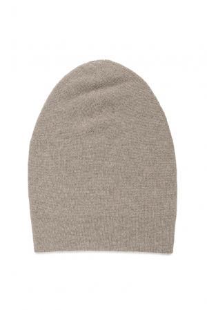 Двусторонняя шапка из кашемира 173086 Andre Maurice. Цвет: бежевый