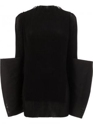 Oversized cuff top Yang Li. Цвет: чёрный