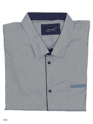 Рубашка AMATO. Цвет: синий