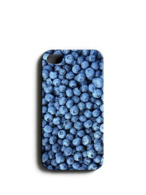 Чехол для IPhone 4/4S Черника, Boom Case. Цвет: лазурный