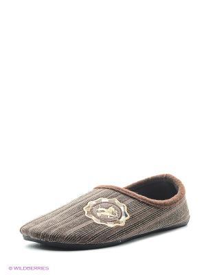 Тапочки Effa. Цвет: коричневый