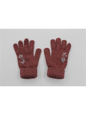Перчатки Cascatto. Цвет: бордовый