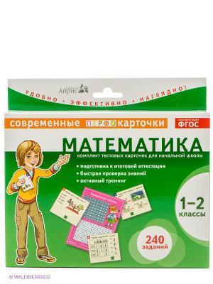 Карточки. Математика. 1-2кл. АЙРИС-пресс. Цвет: зеленый