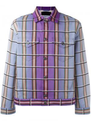 Куртка в клетку J.W.Anderson. Цвет: розовый и фиолетовый