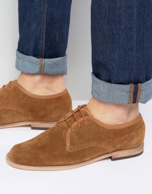 Hudson London Замшевые туфли дерби Hayane. Цвет: рыжий