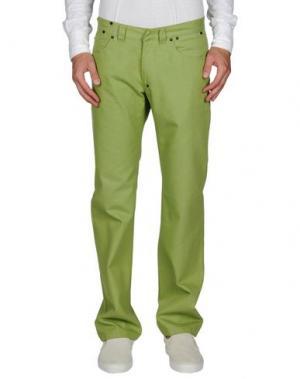 Джинсовые брюки DANIELE ALESSANDRINI. Цвет: светло-зеленый