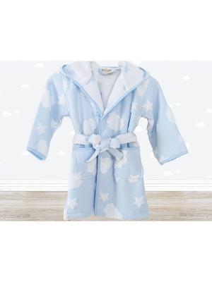 Халат банный CLOUD Голубой IRYA. Цвет: голубой