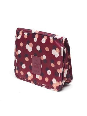 Органайзер в ванную подвесной Бордовый Цветок Homsu. Цвет: бордовый