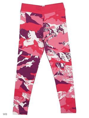 Тайтсы Style AOP Leggings PUMA. Цвет: малиновый