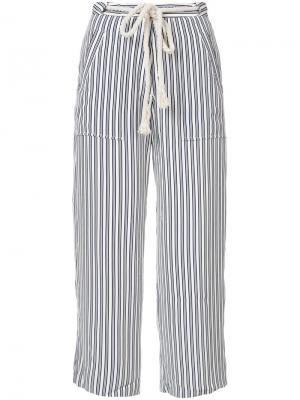 Укороченные брюки Jenni Kayne. Цвет: синий
