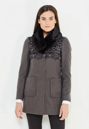 Пальто Liu Jo Jeans. Цвет: серый