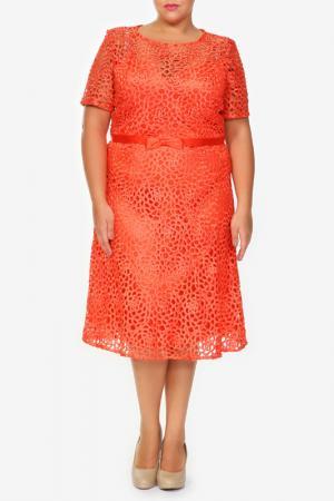 Платье Lia Mara. Цвет: оранжевый