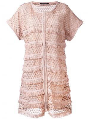 Пальто Ninfea Antonino Valenti. Цвет: розовый и фиолетовый