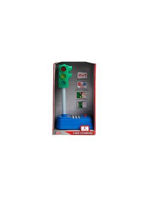 Светофор Технопарк. Цвет: зеленый, серый, синий