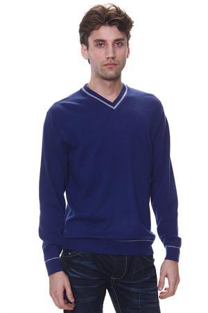Джемпер с V-вырезом Expression. Цвет: синий