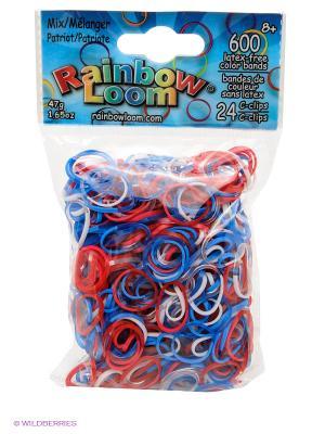 Резиночки Патриот Микс RAINBOWLOOM. Цвет: красный, белый, синий