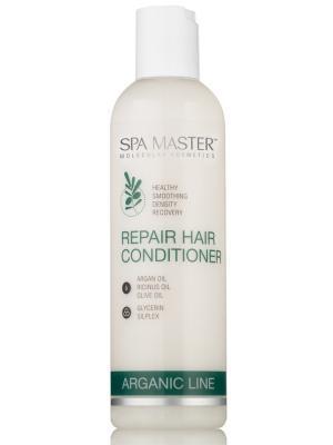 Восстанавливающий бальзам для волос с silPLEX, аргановым, касторовым и оливковым м SPA Master. Цвет: белый