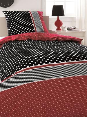 Комплект постельного белья OZDILEK. Цвет: черный, красный, белый