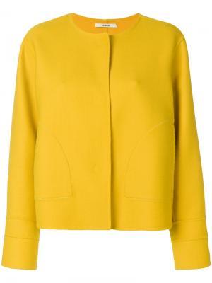 Пиджак прямого кроя Odeeh. Цвет: жёлтый и оранжевый