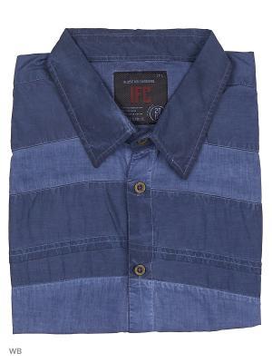 Рубашка IFC. Цвет: темно-синий, синий