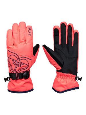 Перчатки ROXY. Цвет: розовый, коралловый